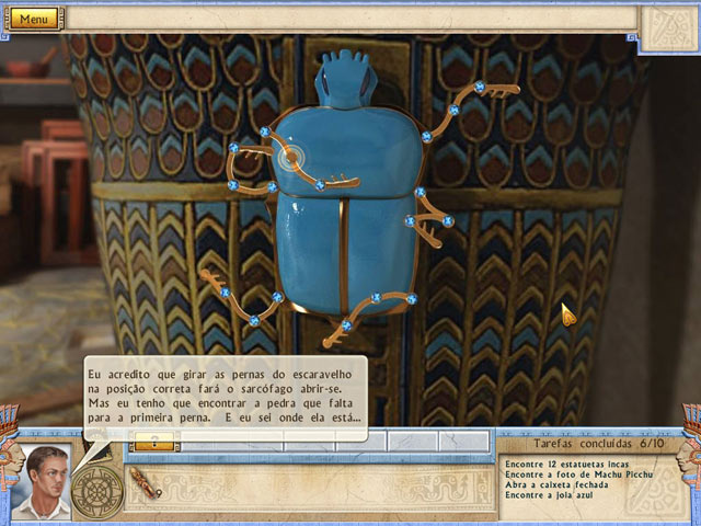 Screenshot Do Jogo 3 Alabama Smith in the Quest of Fate
