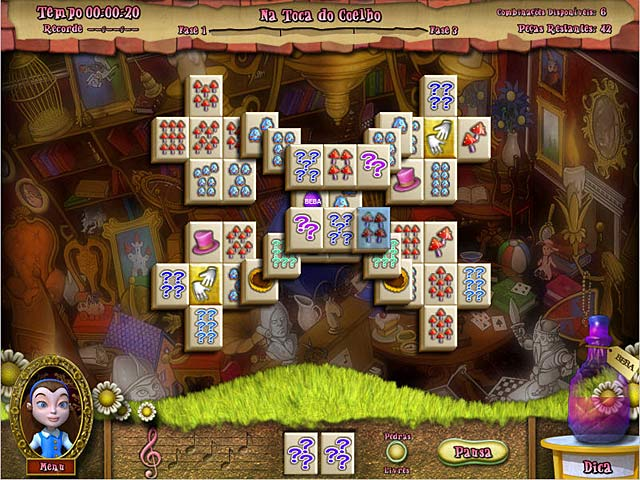 Screenshot Do Jogo 2 Alice's Magical Mahjong