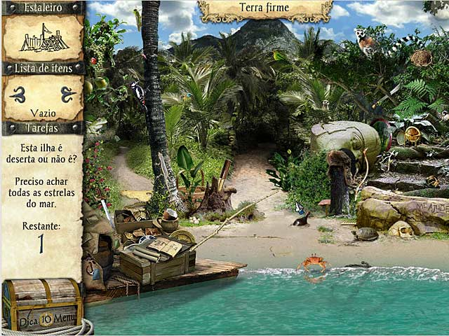 Screenshot Do Jogo 1 As Aventuras de Robinson Crusoé