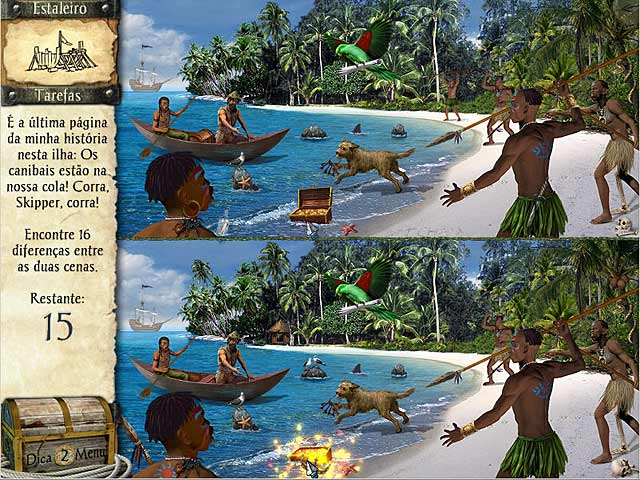 Screenshot Do Jogo 2 As Aventuras de Robinson Crusoé