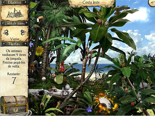 Screenshot Do Jogo 3 As Aventuras de Robinson Crusoé