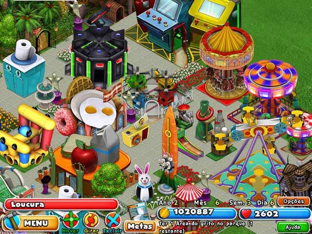 Screenshot Do Jogo 3 Dream Builder: O Parque de Diversões