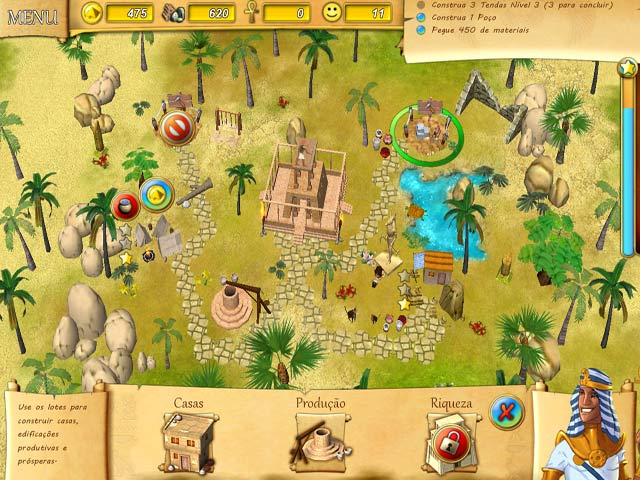 Screenshot Do Jogo 1 Fate of the Pharaoh