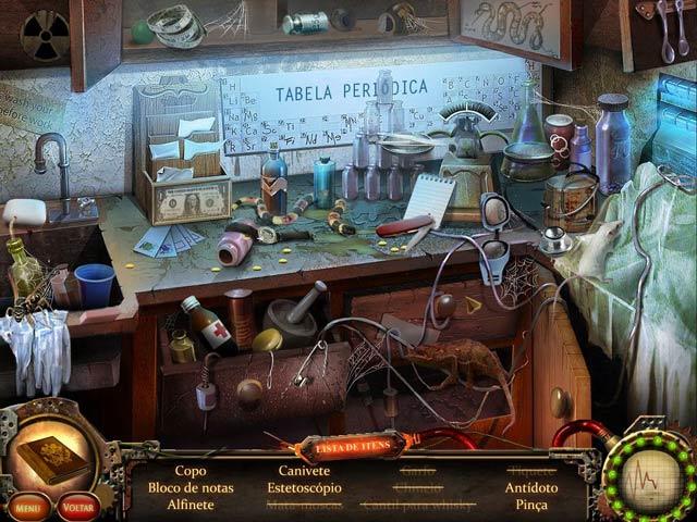 Screenshot Do Jogo 3 Nightfall Mysteries: A Conspiração do Manicômio