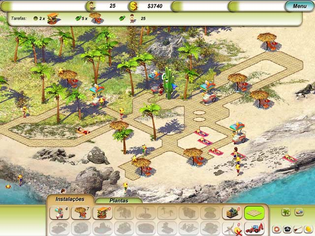 Screenshot Do Jogo 1 Paradise Beach