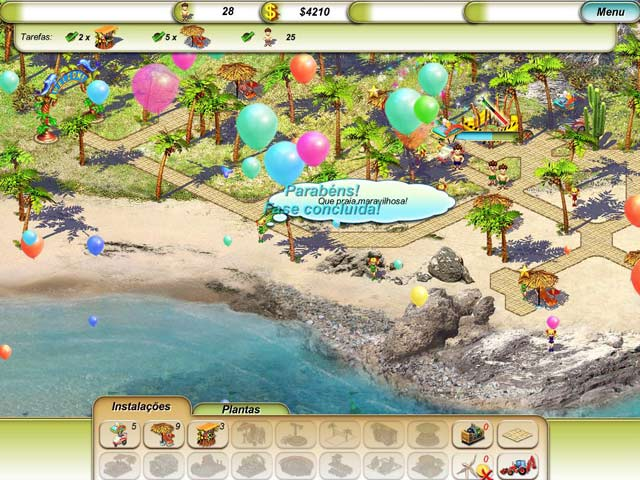 Screenshot Do Jogo 3 Paradise Beach