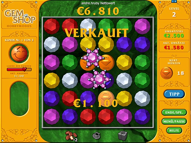 Spiele Screenshot 1 Gem Shop