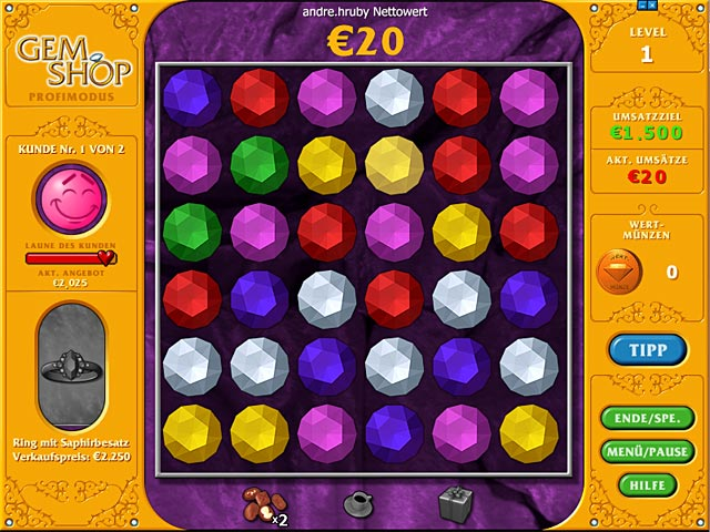 Spiele Screenshot 3 Gem Shop