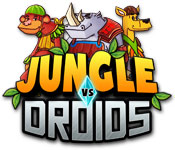 Feature- Screenshot Spiel Jungle vs. Droids