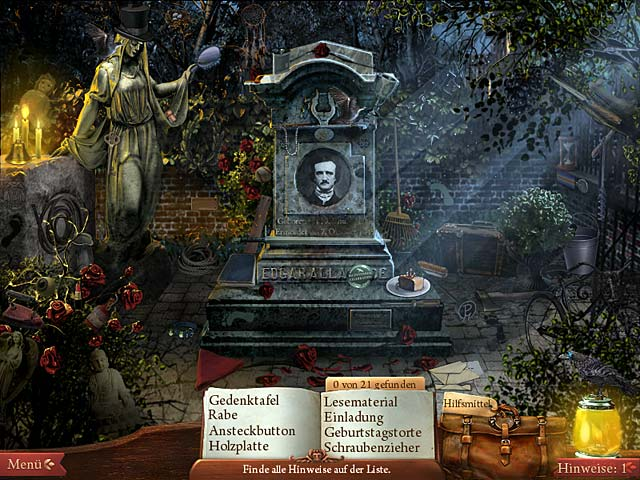 Spiele Screenshot 2 Midnight Mysteries: The Edgar Allan Poe Conspiracy