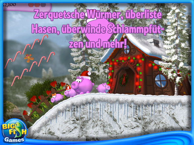 Screenshot für Piggly Christmas Edition