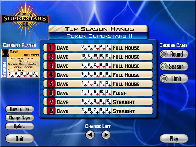 Spiele Screenshot 1 Poker Superstars II