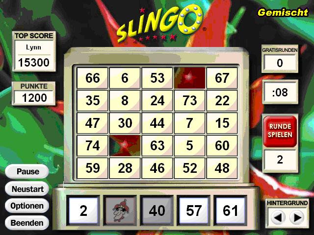 slingo bingo online spielen