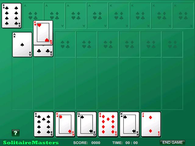 Spil Screenshot 1 Algerian Patience Solitaire