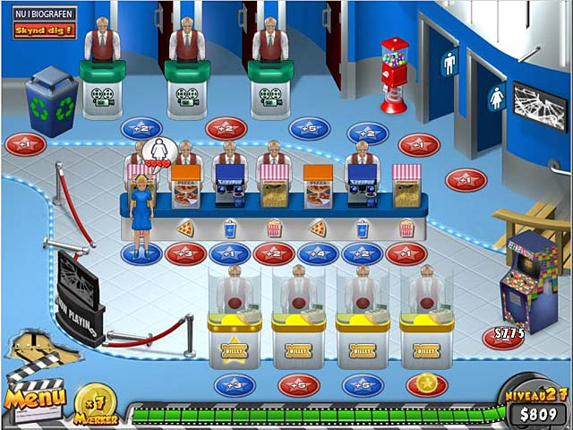 Spil Screenshot 2 Megaplex madness: Nu i biografen