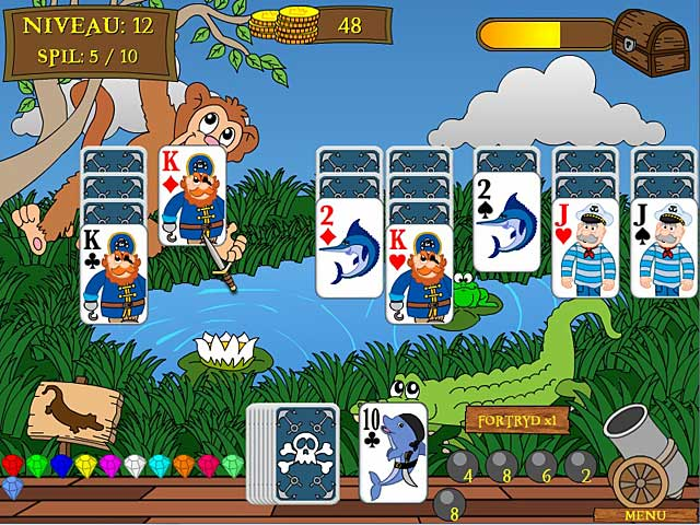 Spil Screenshot 3 Pirate Solitaire