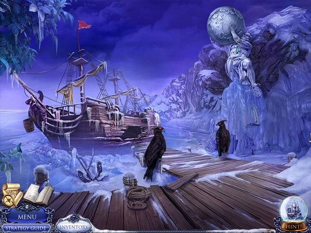 Spil Screenshot 2 Secret Trails: Frozen Heart Collector's Edition