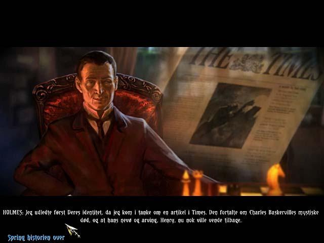 Spil Screenshot 3 Sherlock Holmes og Baskervilles hund