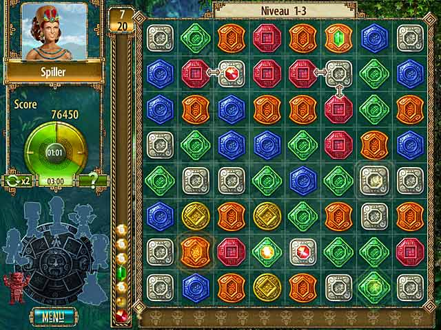 Spil Screenshot 1 The Treasures of Montezuma 2