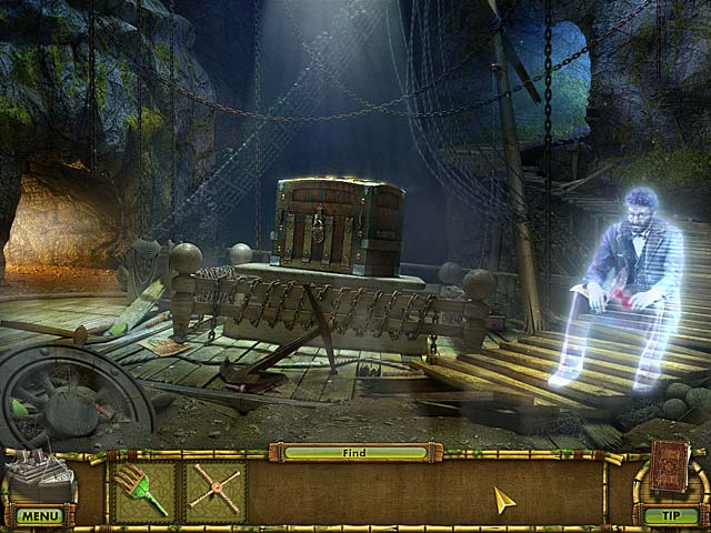 Spil Screenshot 1 The Treasures of Mystery Island: Spøgelsesskibet