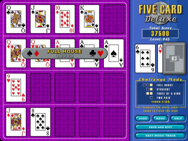 Spiele Screenshot 2 Five Card Deluxe