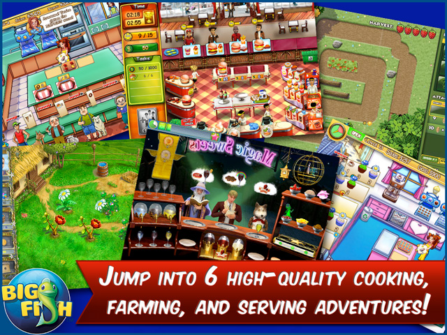 Screenshot for the foodie game bundle cooking farming serving and
