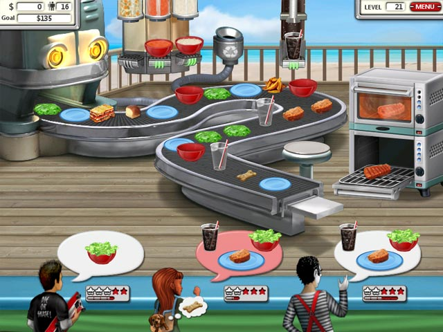 burger shop online game