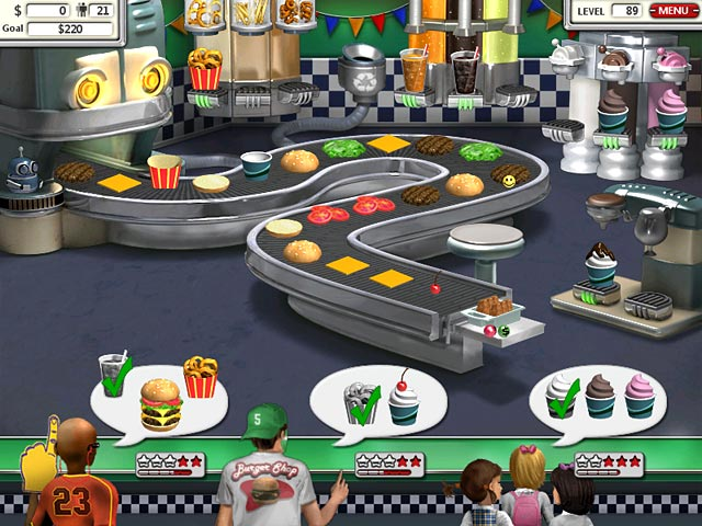 burger shop game free