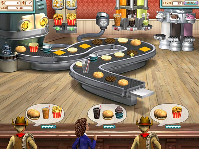 online games burger shop