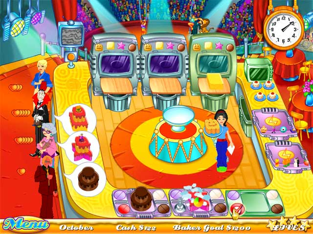 Play cake mania online games big fish for Big fish cooking games