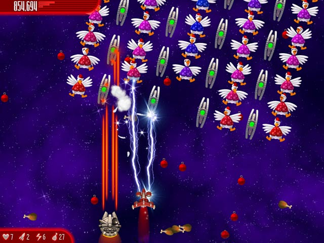 Game screenshot 2 Chicken Invaders: Ultimate Omelette Christmas Edition