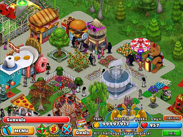 Dream builder amusement park ipad iphone android mac for Amusement park decoration games