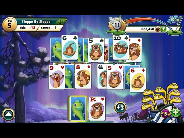 Fairway solitaire tee to play card board games games