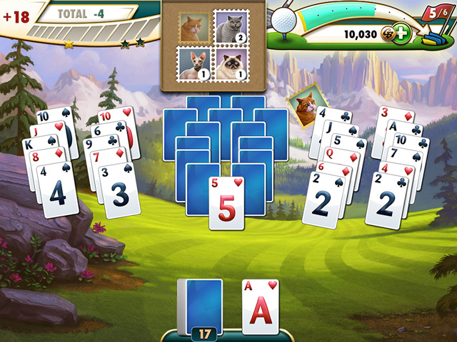 Fairway solitaire includes hundreds of hand crafted golf hole themed