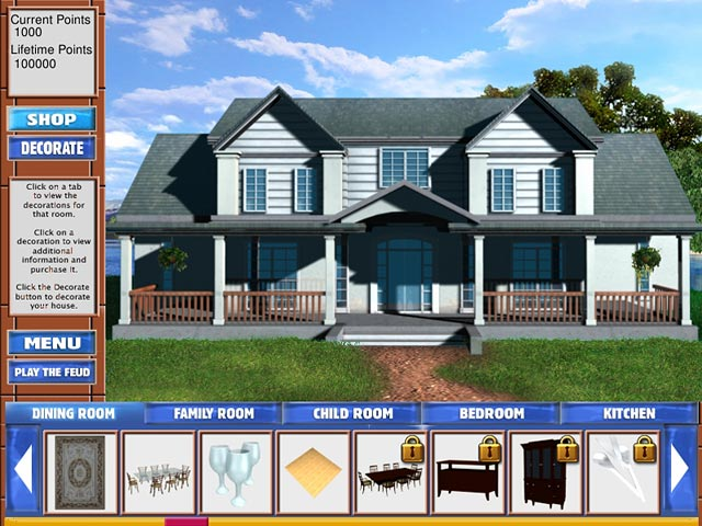 Family feud iii dream home ipad iphone android mac pc game big fish Create a house game