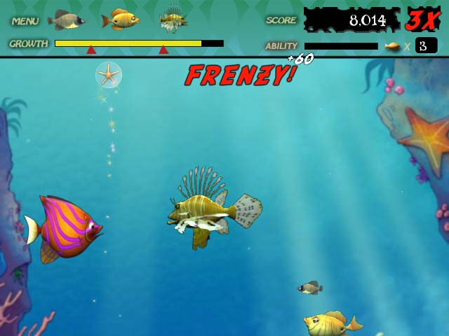 Feeding frenzy ipad iphone android mac pc game for Free online fishing games