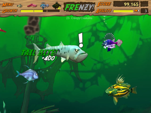 Feeding frenzy 2 shipwreck showdown ipad iphone for Fish and game