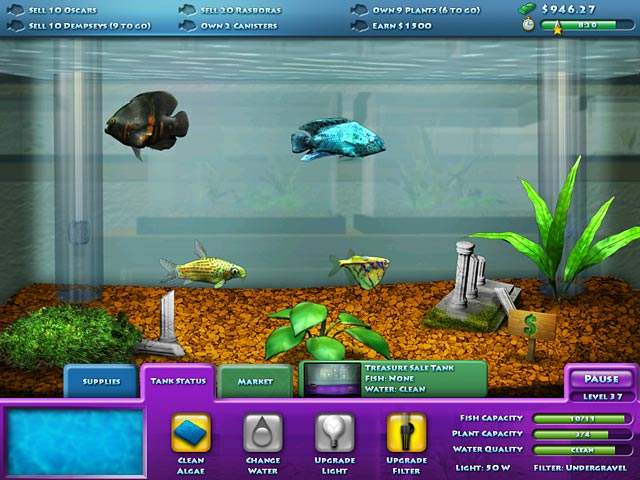 Fishco ipad iphone android mac pc game big fish for Fish tank game