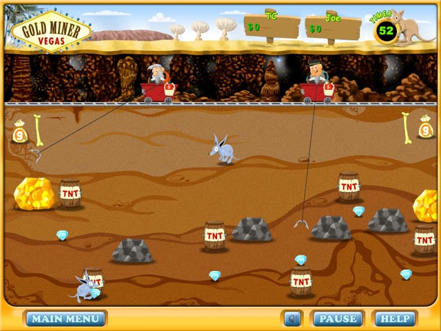 gold miner 2 player full screen