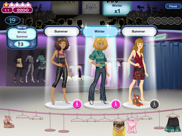 Free online fashion games with levels 13
