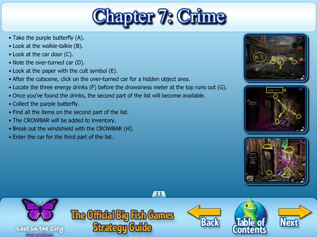 Lost in the city post scriptum strategy guide ipad for Big fish script