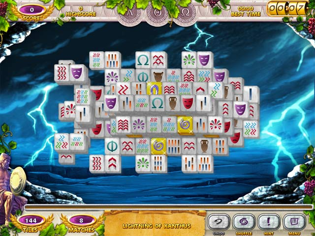 Mahjong Mysteries: Ancient Athena Screen 1