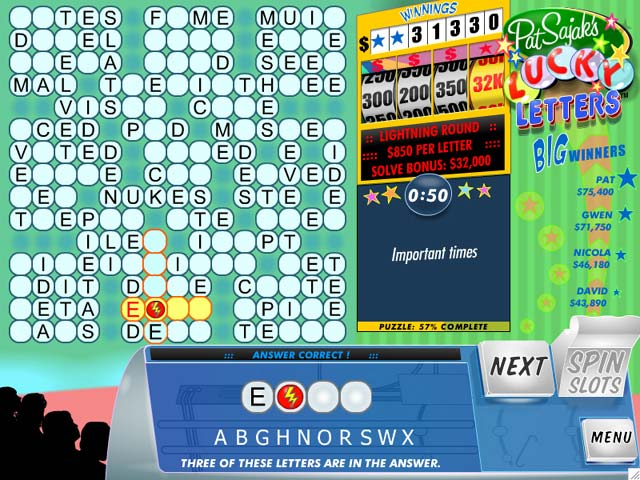 Lucky Letters Game