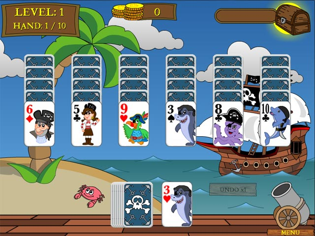 Game screenshot 1 Pirate Solitaire