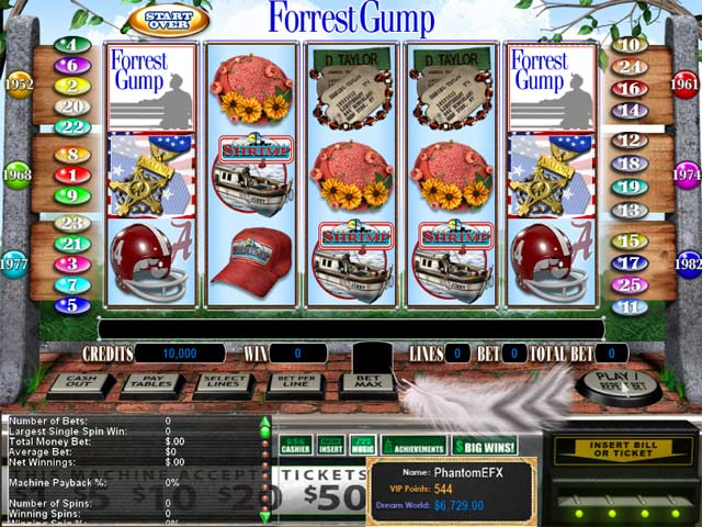 Reel Deal Epic Slot: Forrest Gump Screenshot 1