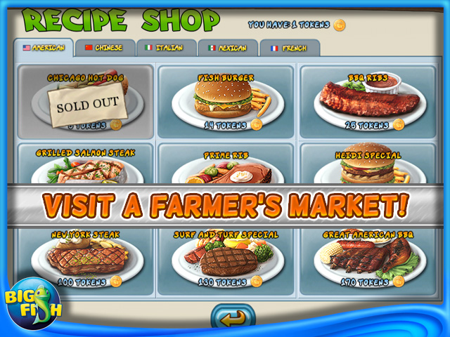 Restaurant rush for mobile devices free games for ipad for Big fish seafood bistro