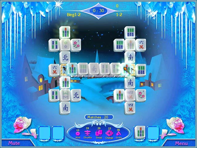 Snow Queen Mahjong Screenshot-1