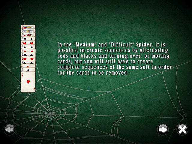 SpiderMania Solitaire screenshot 1