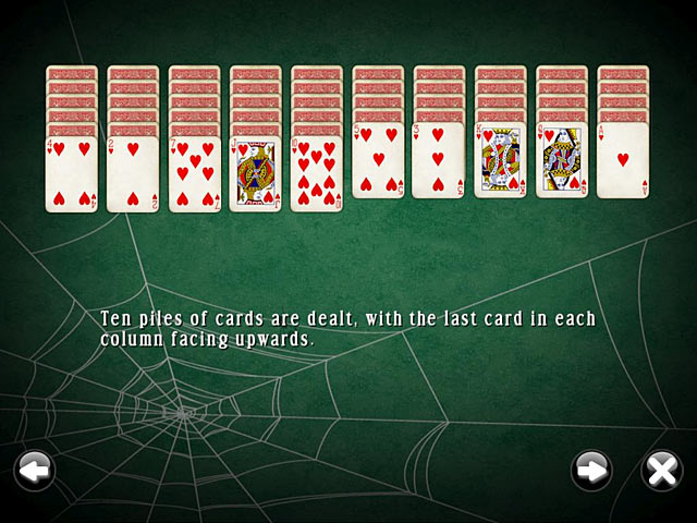 SpiderMania Solitaire screenshot 2