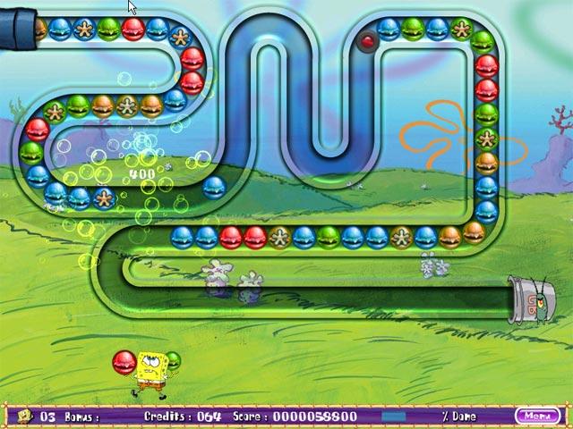 Download spongebob squarepants bubble rush game marble for Bubble fish game
